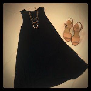Ribbed Black Dress
